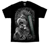 Azteca Mayan Warrior Aztec Skull Mexico Chicano Art David Gonzales T Shirt