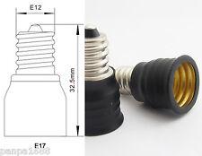4pcs E12 Male to E17 Female Base LED Light Bulb Adapter Holder Socket Converter
