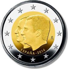 2 euros España, conmemorativa 2014. Proclamación Rey Felipe VI. Sin circular.