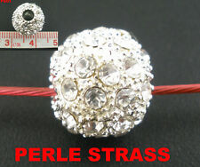 Perle avec strass ronde 12 mm  PS01