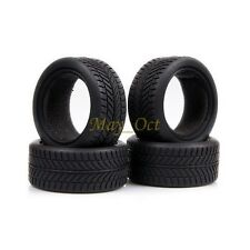 4x RC 1/10 On Road Racing Flat Run Sponge Rubber Tyres,Tires Fit HSP HPI 6085