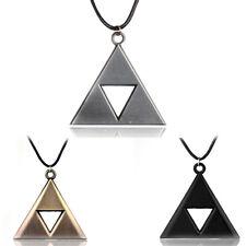 Zelda triforce necklace breath of wild 18 inch cord silver black copper