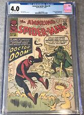 Amazing Spiderman 5 CGC 4.0 Cream/OW 1963 1st Doctor Doom Outside Fantastic Four
