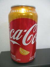 Coca Cola  orange vanilla flavor: a 355 ml empty can, bottom opened, U.S.A.