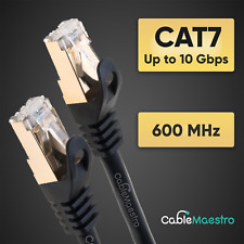 CAT7 Copper Patch Cord Ethernet Cable LAN Shielded Wire RJ-45 6-200FT Lot