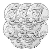 Lot of 10 Silver 2020 American Eagle 1 oz. Us Mint .999 fine silver 1oz Eagles