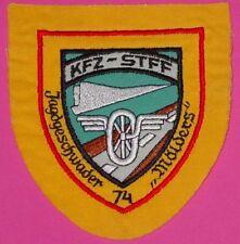 """PATCH / AUFNÄHER vom  """" KFZ-STFF JAGDGESCHWADER 74 MÖLDERS """" bei Neuburg / Donau"""