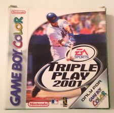 TRIPLE PLAY 2001 Nintendo Gameboy Color Game Complete EA SPORTS GBC GBA Retro