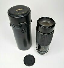 Sigma Film Zoom Lens 75-250mm w/ Original Leather Case MDfor PRAKTICA