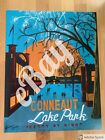 ?Pretty by Night? Conneaut Lake Park Travel Poster, Amusement Park, Pennsylvania
