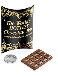 World's Hottest Chocolate Bar Small but intense bar of super spicy chocolate