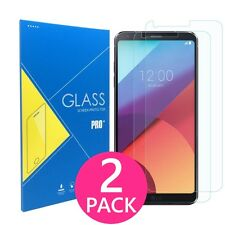 2X Premium HD Clear Slim Real Tempered Glass Screen Protector for LG G6