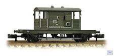 377-853 Graham Farish N Gauge SR 25 T Pill Box Brake Van BR Dept Olive Green