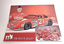 MICHAEL WALTRIP 1996 CITGO #21 WOOD BROTHERS NASCAR WINSTON CUP HERO CARD