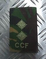 Genuine British Army Woodland Camouflage CCF LIEUTENANT Rank Slide /Epaulette