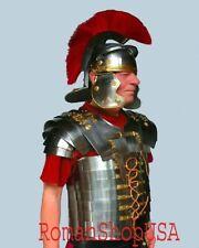 Roman Lorica Segmentata Segmenta Armor Roman Centurion Helmet Armour Costume a1