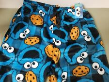 new sesame st. mens cookie monster fleece sleep lounge pants.