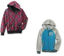 Girls Jacket Fleece Hooded Reversible Zip Front Long Sleeve Plus Size- M, L, XL