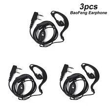 3pcs 2 Pin Mic Headset Earpiece Ear Hook Earphone for Baofeng Radio UV 5R 888s
