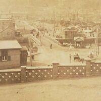 Port Arthur Manchuria China Russian Docks 1904 Russians South Stereoview Photo