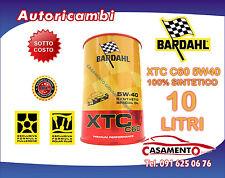 10 LT LITRI OLIO MOTORE AUTO BARDAHL XTC C60 5W40 POLAR PLUS FULLERENE