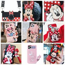 New Disney Minnie Mouse Popsocket Lanyard Case Cover for Apple iPhone 11 Pro Max