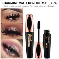 4D Silk Fiber Eyelash Mascara Extension Makeup Black Eye Lashes Waterproof Hot