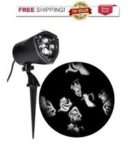 Halloween Projection LED Whirl A Motion +  Strobe Spotlight White Reapers