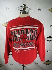 G4524 VTG 90's Chicago Bulls NBA-Basketball Pull-Over Sweater Size L