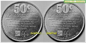 CANADA McDONALD'S COCA COLA 1983 GOOD FOR 50¢ RARE ALUMINUM MERCHANT TOKEN COIN