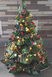"Vintage Ceramic Christmas Tree 16"" 1989"