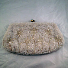 Unique Vintage Hand Made Beaded Evening Clutch/Handbag Made In Japan
