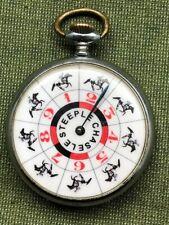 Vintage Antique Roulette Gambling Pocket Watch Horse Racing