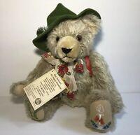 Max Hermann Happy Wanderer Jointed Mohair Bear Plush NWT Ltd Ed 2176 Musical