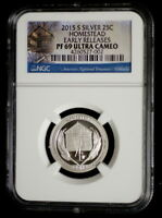 2015 S Homestead Silver Mint Proof Quarter ATB National Park ~ NGC Proof 69