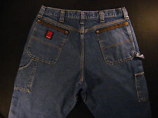 WRANGLER Riggs Workwear Carpenter Men's Jeans 35 x 24 MEASURED