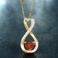 Exquisite Liebe Doppelherz Halskette Graviert Silber Schmuck Farbe Geschenk C1Y5