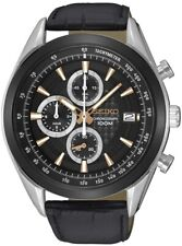 SEIKO SSB183P1 Chronograph 12 Hour 100M Strap Gents 2 Year Guarantee RRP £229.00
