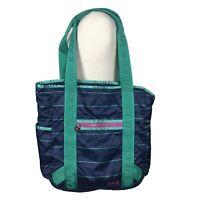 Kaia Tote Bag Blue Green Shopper Shoulder Bag Travel Nylon