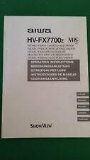 AIWA HV-FX7700z Operator's Original Operating Instructions User Manual