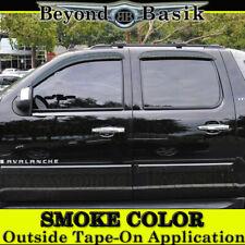 2007-2013 Chevy Silverado 1500 Crew Cab SMOKE Door Visor Window Side Rain Guards