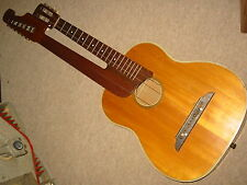 Beautifully flamed,  old Double neck harp guitar for 12 strings Contra guitar?