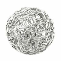 10x Twist Ball Wire Spacer Beads Hollow Round Silver 24mm(1inch)Dia. -Jewel G9P5