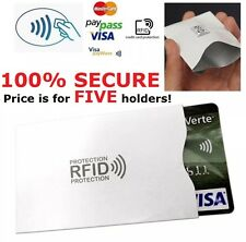 5 x Contactless Payment Credit Card Anti-Theft Shield Blocker RFID Blocking RF01
