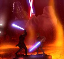Home Decor Art Canvas Prints Poster Obi Wan Kenobi Vs Anakin Skywalker 12X12