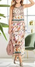 Kaleidoscope Heine Animal Print Long Dress Uk 10 rrp £59 #Box 11