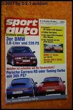 Sport Auto 11/91 Porsche Carrera RS BMW Z1 Mazda MX 5