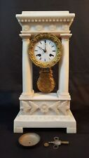 ANTIQUE FRENCH MARBLE CLOCK, Signed VINCENT & CIE, MEDAILLE D'ARGENT