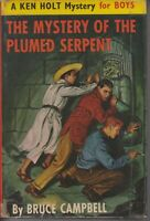 CHILDRENS , HC/DJ , MYSTERY OF THE PLUMED SERPENT , KEN HOLT , 1ST ED 1962