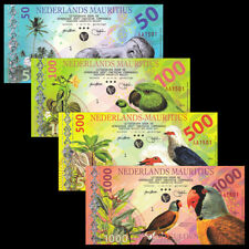 Netherland Mauritius Set 4 PCS, 50 100 500 1000 Gulden, 2016, Fancy Polymer, UNC